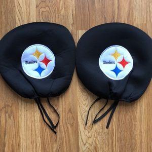 NFL Pittsburgh Steelers Headrest Covers NWOT